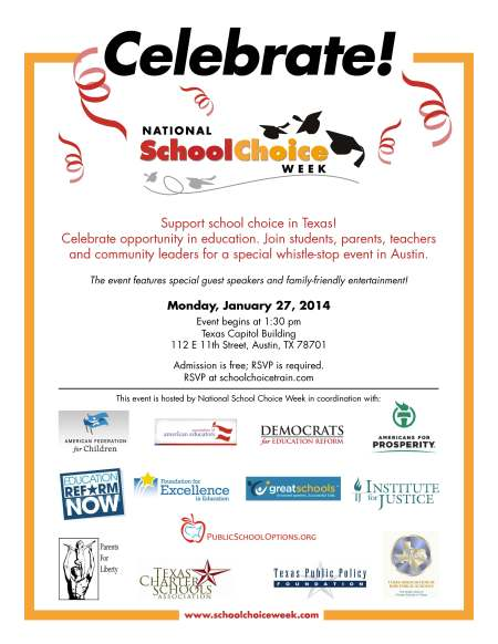 Register for rally today at  www.schoolchoicetrain.com